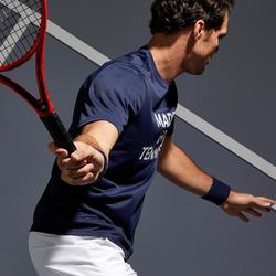 T-shirt tennis heren Soft 100 marineblauw