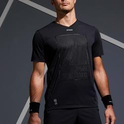 Tennisshirt 900 Herren Light 900 schwarz/gelb