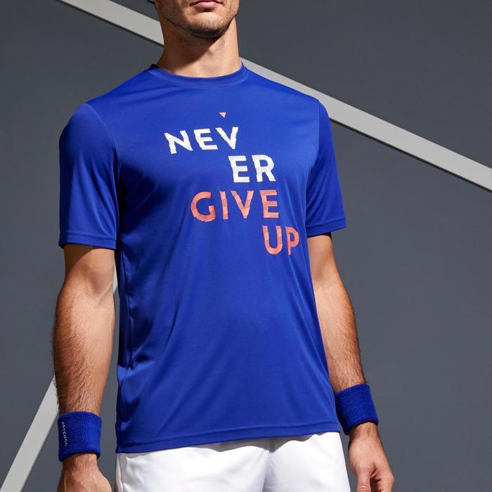 Tennisshirt heren Soft 100 blauw
