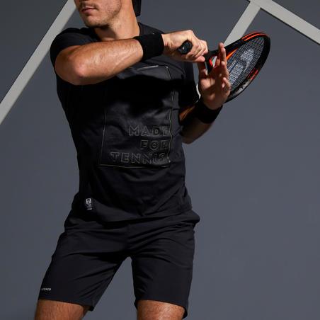 900 Light Tennis T-Shirt - Black/Yellow