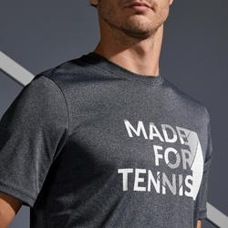 T SHIRT TENNIS HOMME SOFT 100 GRIS chiné