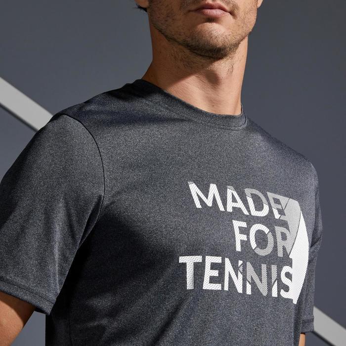 Tennisshirt heren Soft 100 gemêleerd grijs
