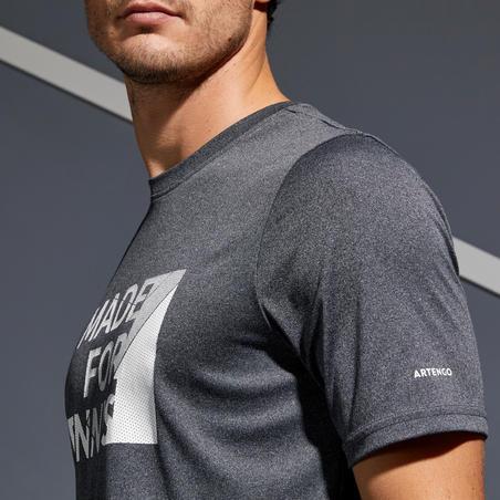 T-Shirt Tenis Soft 100 - Mottled Grey