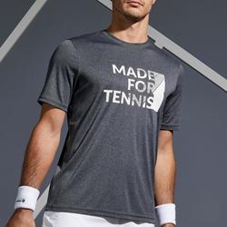 Tennisshirt voor heren Soft 100 gemêleerd grijs
