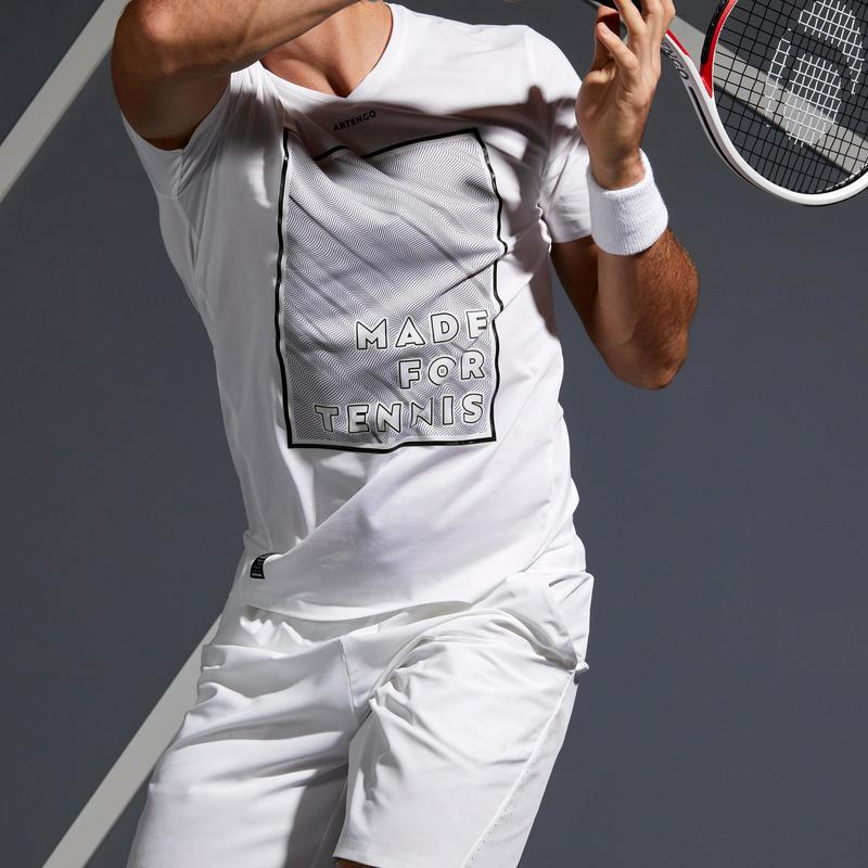 T shirts / Polo shirts - 900 Light Tennis T-Shirt - White/Yellow