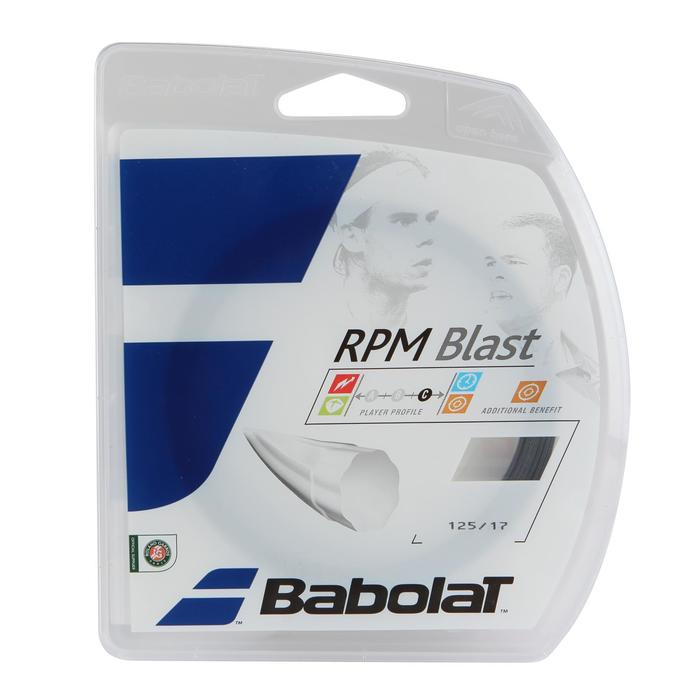 CORDAJE DE TENIS MONOFILAMENTO RPM BLAST 1,25 mm NEGRO