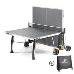 Tafeltennistafel outdoor 300S Crossover grijs met gratis hoes