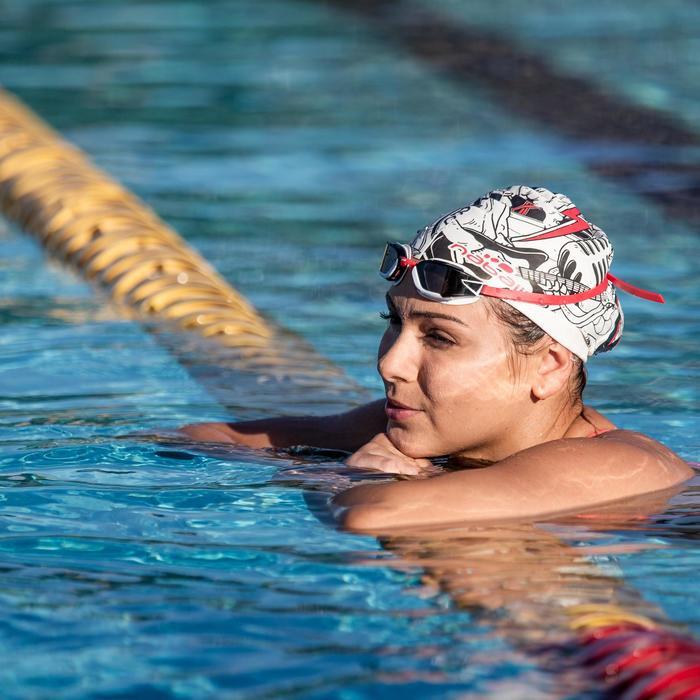 Gafas Natación Aguas Abiertas Nabaiji Adulto Rosa Blanco Competición Antivaho