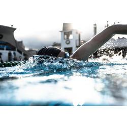 Schwedenbrille klar 900 schwarz/blau
