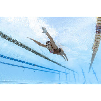 Lunettes de natation 900 SUEDOISES Blanc Rouge verres miroirs