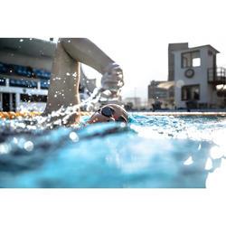 Gafas de natación 900 SUEDOISES Blanco Rojo cristales espejo
