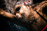B-FAST Swimming Goggles 900 - Black Red Smoked Lenses