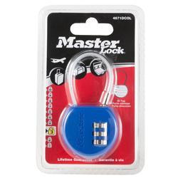 Candado Portadirección Contraseña Viaje Master Lock Azul Equipaje
