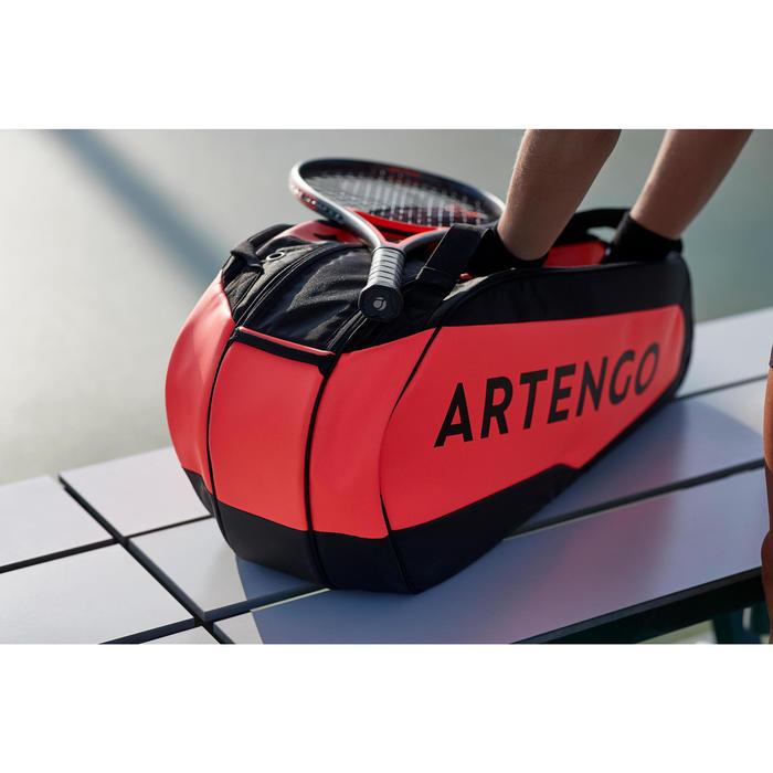 SAC SPORTS DE TENNIS ARTENGO 930 L NOIR ORANGE