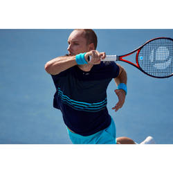 T-shirt voor tennis heren Light 900 zwart/blauw/turkoois