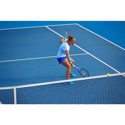女款網球T恤Soft 500-白色
