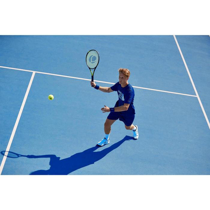 網球T恤Soft 100-海軍藍