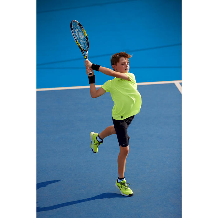 Tennisschoenen voor kinderen Artengo TS990 fluogeel