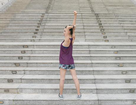 lopen op trappen of helling