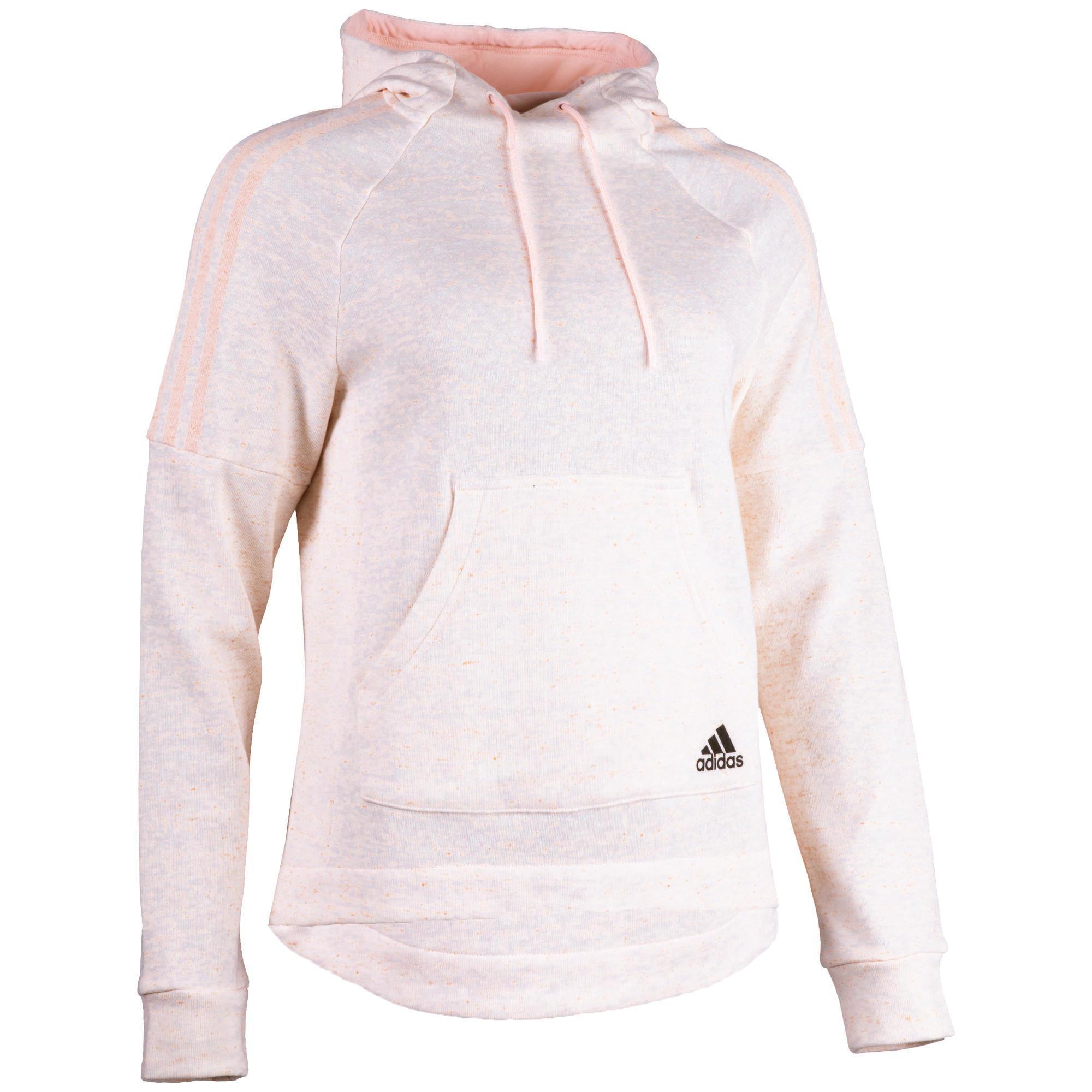 6d10be50c3c6c Sudadera De Chándal Con Capucha Gimnasia Pilates Adidas 500 Bolsillo Mujer  Rosa Adidas