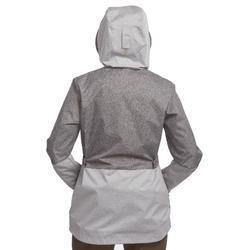 Veste trekking TRAVEL100 compacte femme gris