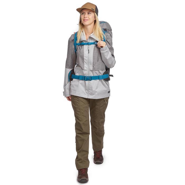 Compacte trekkingjas Travel 100 dames grijs