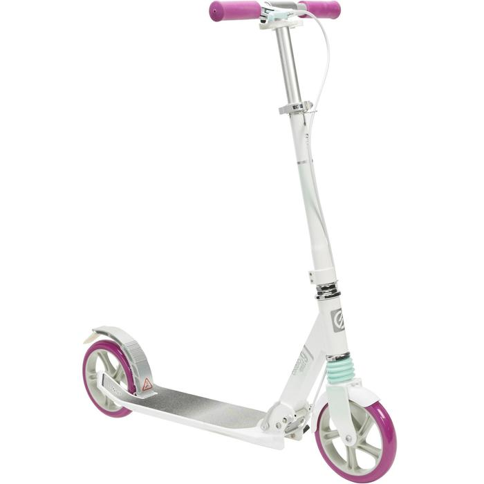City-Roller Scooter MID 9 weiß/lila