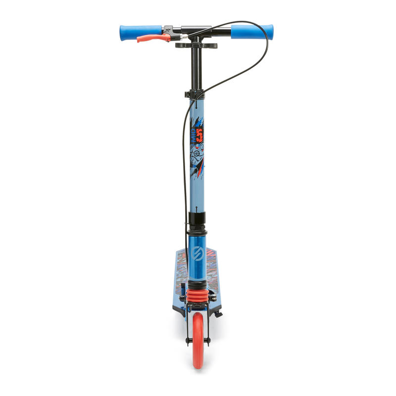 Kids' Scooter MID 5 with Handlebar Brake and Suspension - Superhero
