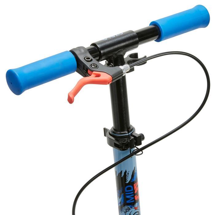 Kinder-Roller Scooter Mid5 Federung Lenkerbremse Superhelden-Motiv