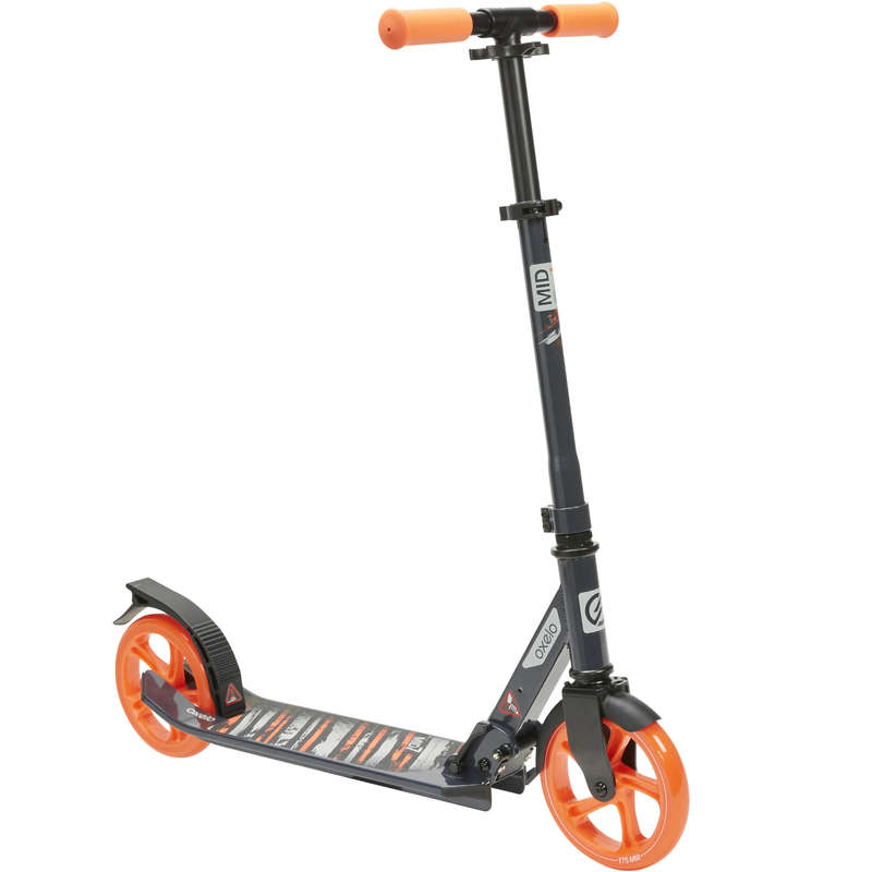 Kinder-Scooter City-Roller und Scooter - Scooter Mid 7 blau/orange OXELO - City Roller