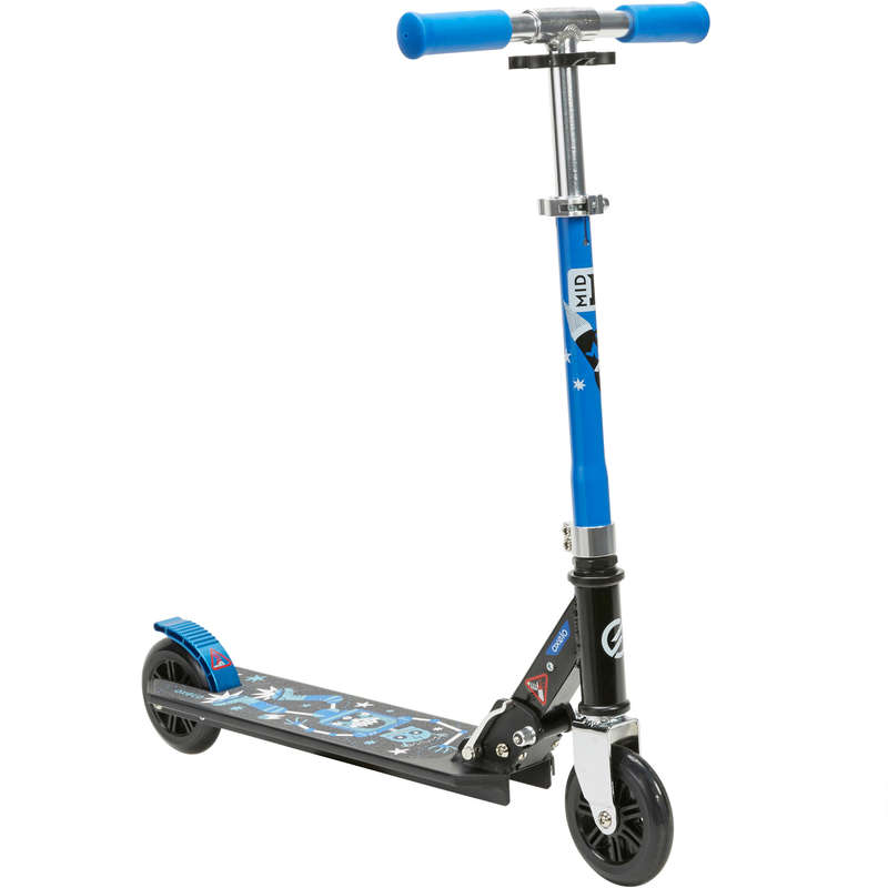 CHILD SCOOTERS Outdoor Activities - MID 1 Robot Scooter - Blue OXELO - Outdoor Activities BLACK