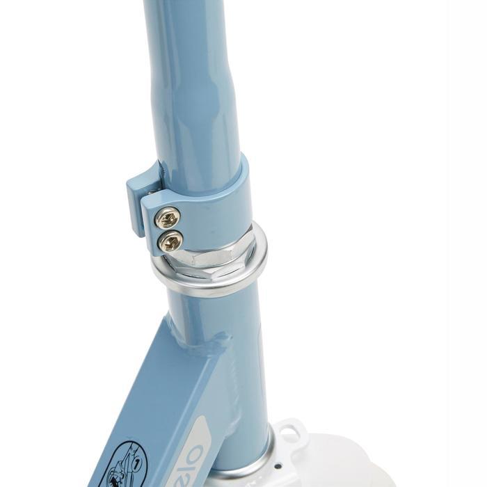 Scooter Mid 7 mit Ständer grau/blau/weiß