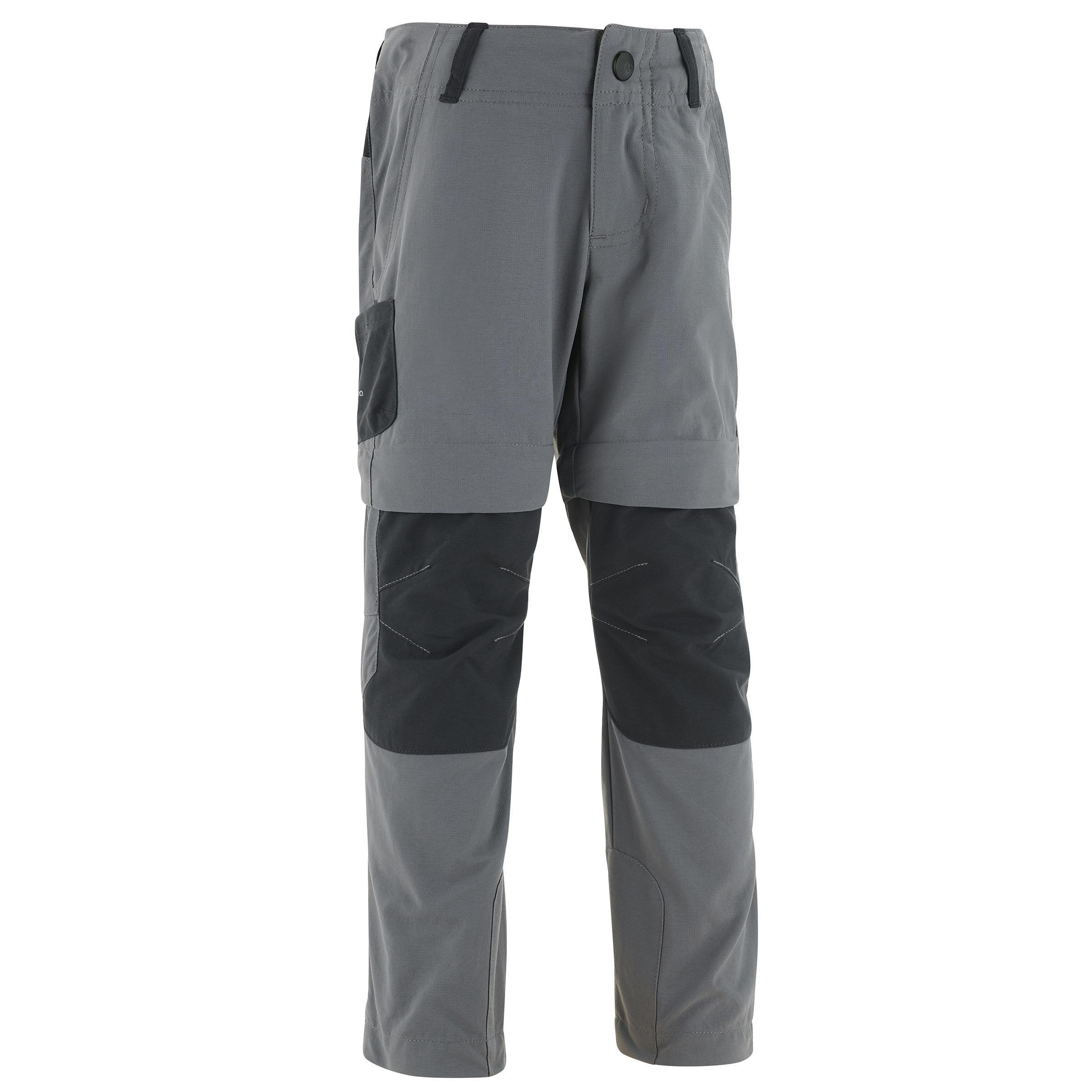 Pantalón transformable de senderismo júnior MH550 KID gris
