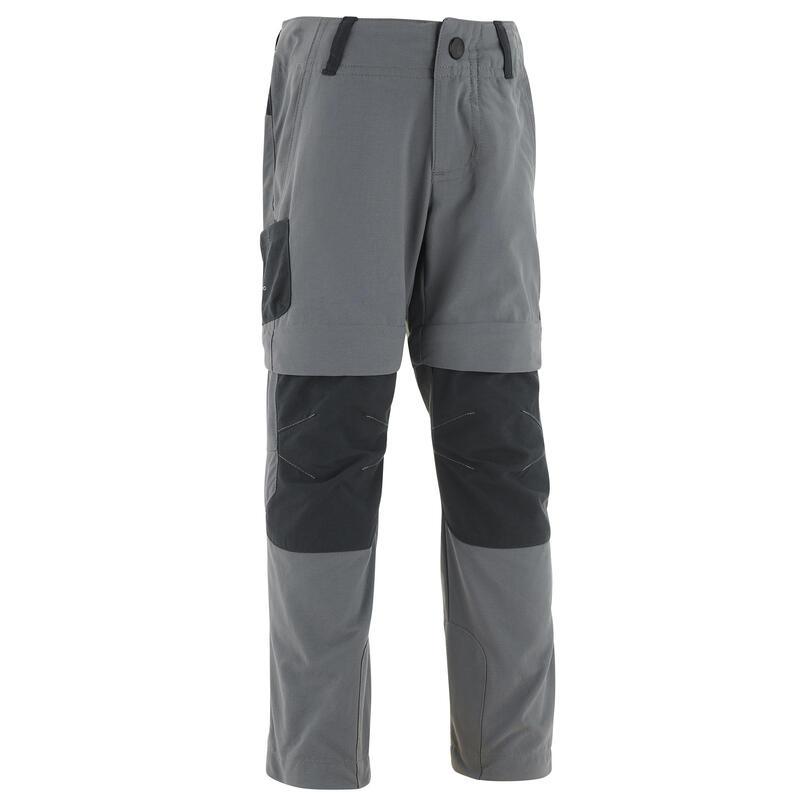 Pantaloni modulabili montagna bambino 2-6 anni MH500 grigi