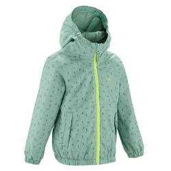 MH500 Kids' Hiking Waterproof Jacket - Green