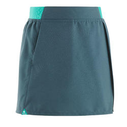 MH100 Children's Hiking Skorts – Grey and Turquoise for 7 to 15 year olds