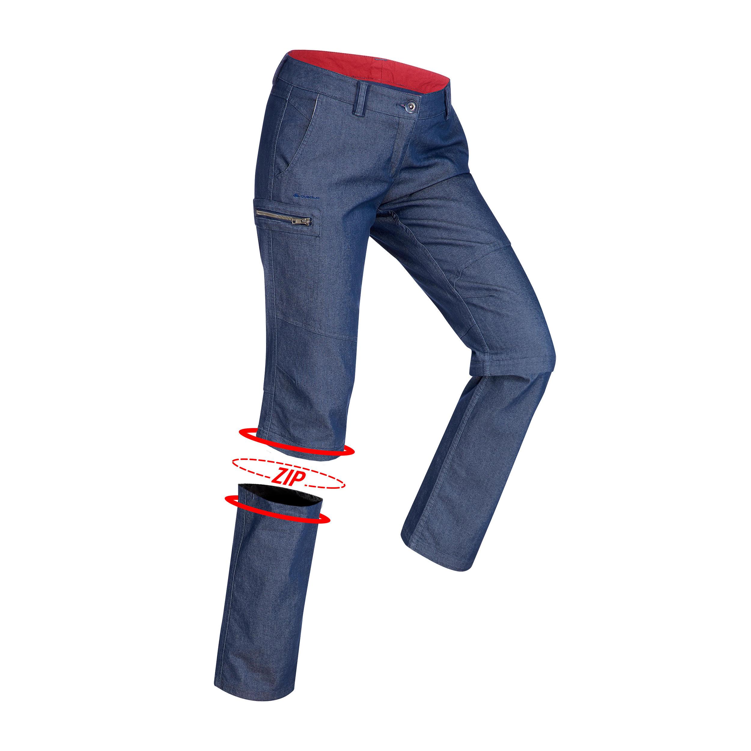 Damen Zip-Off-Hose Travel 100 Damen blau | 03608439592942