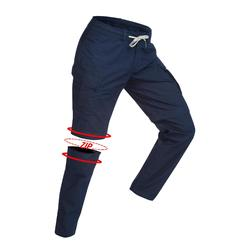 Pantalon modulable trekking TRAVEL100 homme marine