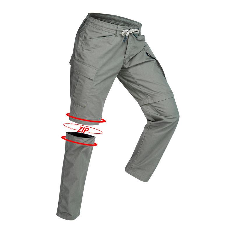 ee212603 Men's Zip-Off Travel Trousers TRAVEL100 - Khaki