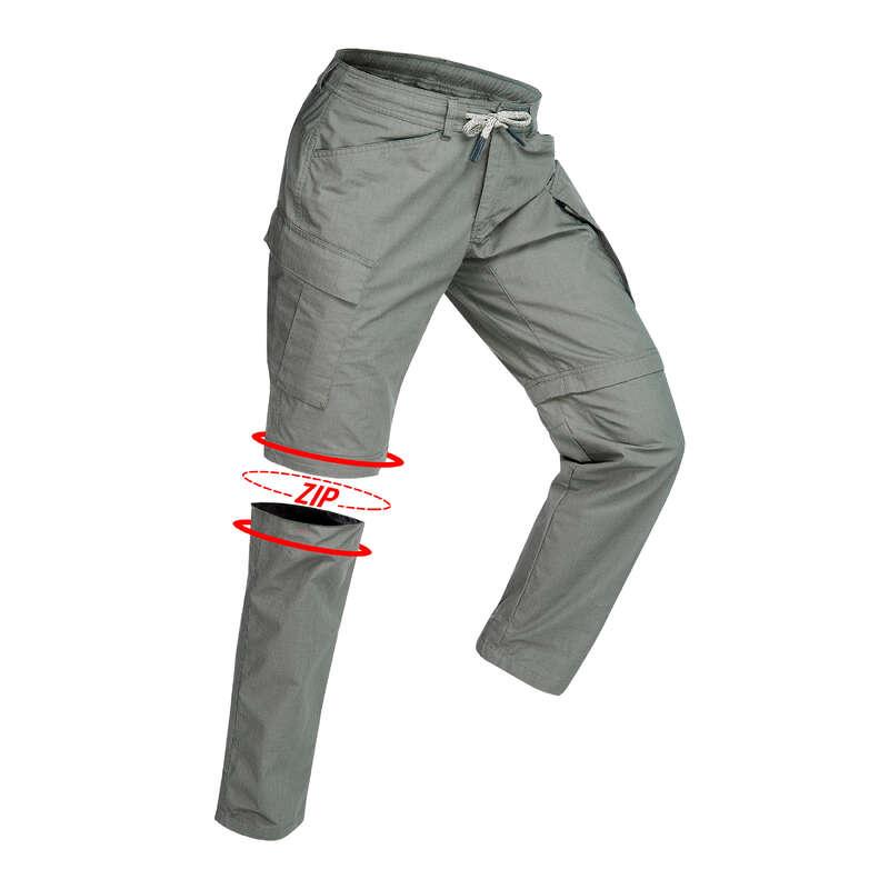 MEN APPAREL OUTFIT TRAVEL TREK - TRAVEL100 M Zip-Off Trousers-K FORCLAZ