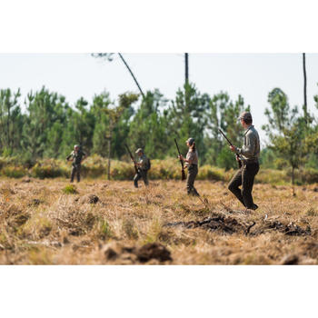 Jagdhose leicht atmungsaktiv 500 beige