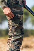 LOVECKÉ OBLEČENÍ DO TEPLÉHO POČASÍ Myslivost a lovectví - MASKOVACÍ KALHOTY NA LOV 100  SOLOGNAC - Myslivecké oblečení