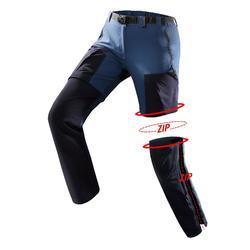 Pantalon modulable trekking montagne TREK 500 femme Bleu