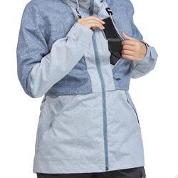 Veste trekking TRAVEL100 compacte femme bleu