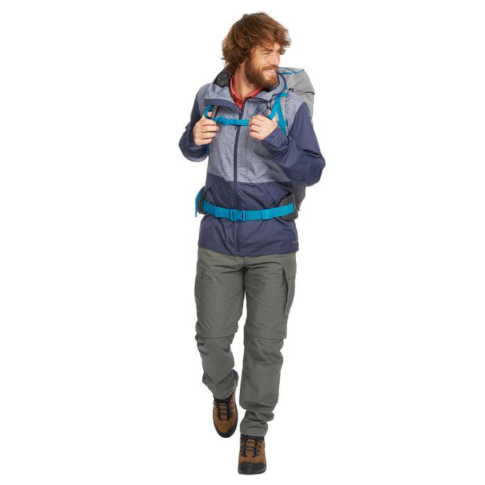 Veste trekking TRAVEL100 COMPACT homme bleu