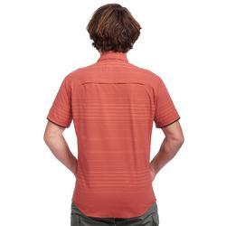 Chemise manches courtes TRAVEL100 fresh homme rayée orange