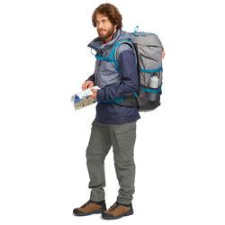 Pantalón Desmontable de Montaña y Trekking Viaje Forclaz Travel 100 Hombre Caqui