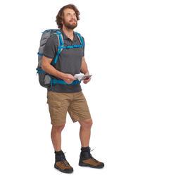 Pantalón Corto Bermuda Montaña y Trekking Viaje Forclaz Travel 100 Hombre Caqui