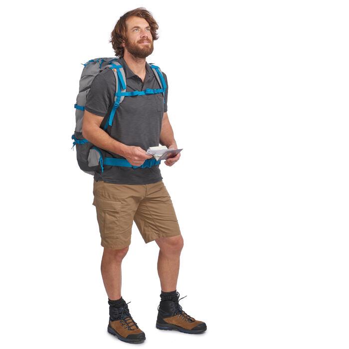 Trekkingshort Travel 100 heren kaki