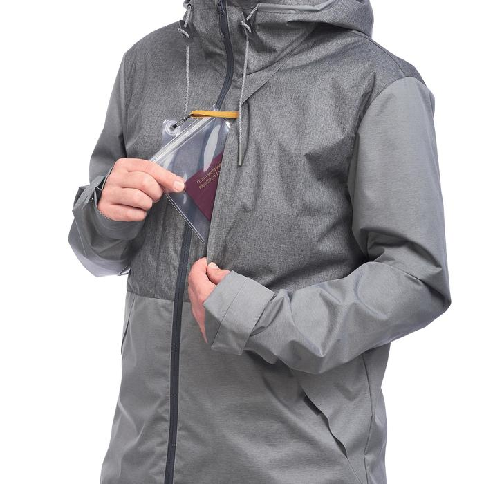 Travel 100 Compact Men's Trekking Jacket - Grey